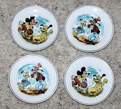Ex! Walt Disney 1958 4 Piece Multiple Character Lithographed China Plate Tea Set