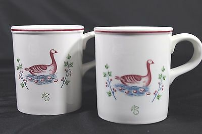 JOHNSON BROTHERS Twelve Days of CHRISTMAS 2 MUGS GEESE GOOSE a LAYING