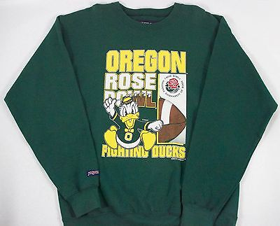 Vintage Jansport Ncaa Oregon Fighting Ducks Rose Bowl Pill Over Sweater Green L