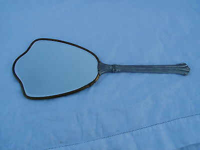 Vintage Hand Mirror Beveled Edge  Vanity Item