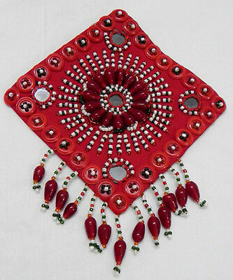 ORIGINAL HANDMADE MEDALLION / PATCH DECORETED BELLY DANCE KUCHI TRIBAL ETHNIC p2