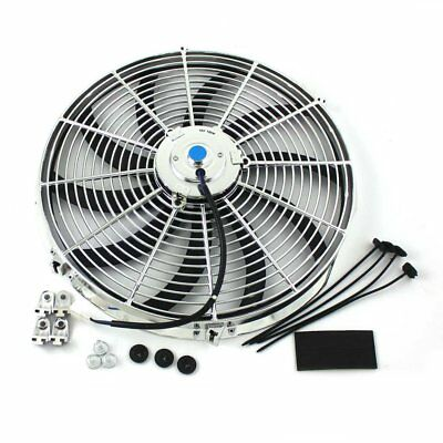 16 Inch Thermo Fan Electric Fan Chrome Curved Blade 120W 120V