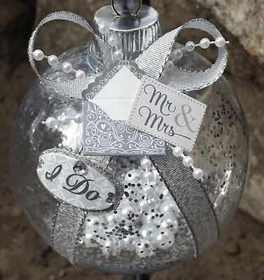 PERSONALIZED Wedding Christmas Ornament - Newlyweds/Bride & Groom/Just Married