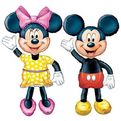 "Huge 52"" Disney Minnie Mickey Mouse Airwalker Foil Helium Balloon Life Size Kids"