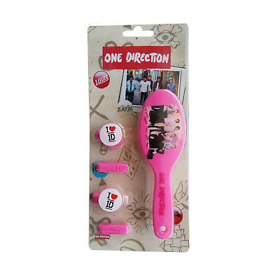 New One Direction 1D Hair Brush Set Pink Bobbles Kids Fun Gift New