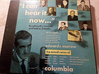 "EDWARD R.MURROW & FRIENDLY ""I Can Hear It Now"" Columbia Set MM-800 w. 5 records"