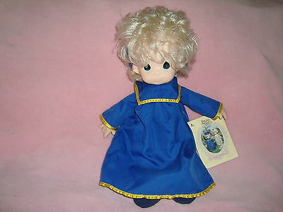 "Precious Moments Graduate Doll SANDY #1031 Blue Gown 1993 16"" tall Plush & PVC"