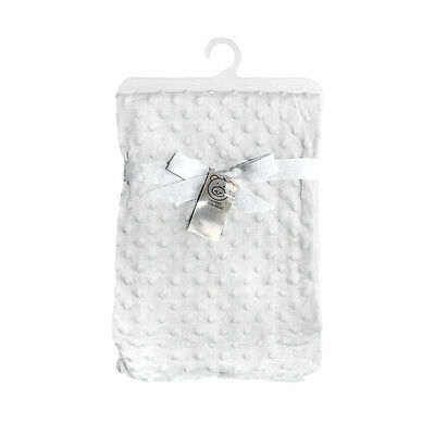 White Soft Waffle/Dimple Baby/babys Cot/Pram Bubble blanket/Wrap Boys/Girls