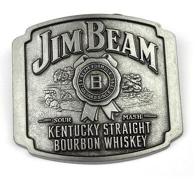 Jim Beam Bourbon Whiskey USA Belt Buckle Metall Gürtelschnalle Kentucky Straight