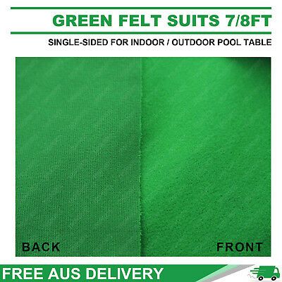 Single-Sided Dark Green Pool Snooker Table Cloth For Indoor/outdoor Suit 7Ft/8Ft