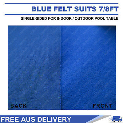 Single-Sided Blue Pool Snooker Table Cloth For Indoor/outdoor Suits 7Ft / 8Ft