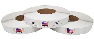 """White 1""""Wafer Tab Seals 5000 Tabs Per Roll Save Big 3 Roll Per Box USPS Approved"""