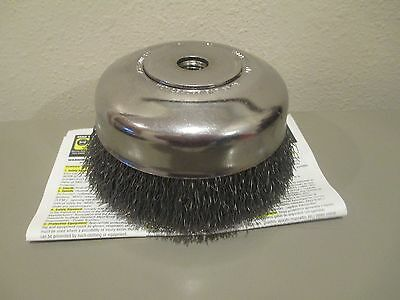 Advance Brush, 6 Inches Diameter x 5/8-11 Hole Size, Cup Brush