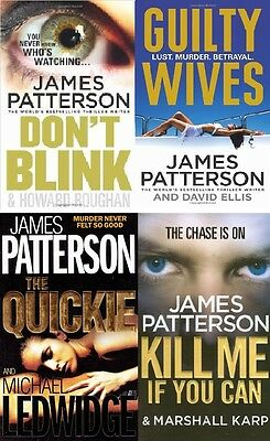 James Patterson __ 4 Book Set __ Don't Blink Guilty Wives The Quickie Kill _ New