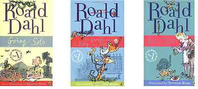 Esio Trot The Giraffe Pelly And Me Going Solo Roald Dahl 3 Book Set Collection