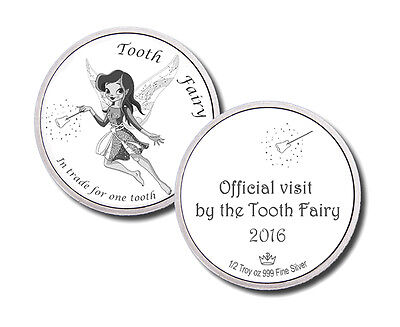 2016 A Visit From The Tooth Fairy 1/2 oz .999 Silver Round USA Bullion Coin