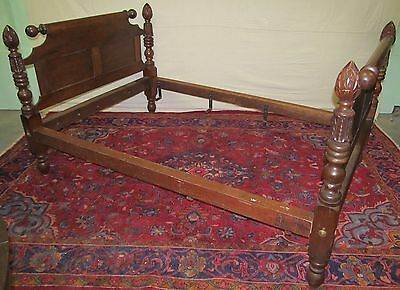 Federal Period Cherry Pineapple Carved Four Poster Bed