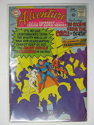 Adventure Comics #367 Signed by Jim Shooter! SUPERBOY SILVER AGE DC 1968