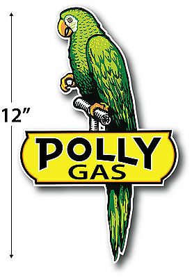 "Left Facing 12"" Polly Gasoline Lubster Project Decal Gas Oil Can Pump Sticker"