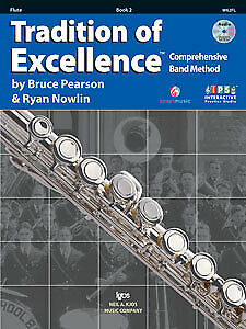 Pearson & Nowlin: Tradition of Excellence Book 2 Flute - Kjos W62FL Brand New