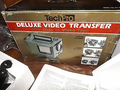 Techpro Deluxe Video Transfer System 16mm 8mm super 8 silent Tested works Nice