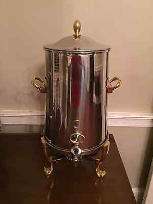 ONEIDA OUVERTURE 5 GALLON COFFE URN - Brass/Stainless - New In Box
