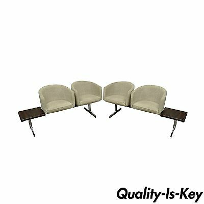 Vintage Mid Century Danish Modern Rosewood End Tables Club Chairs Sectional Sofa