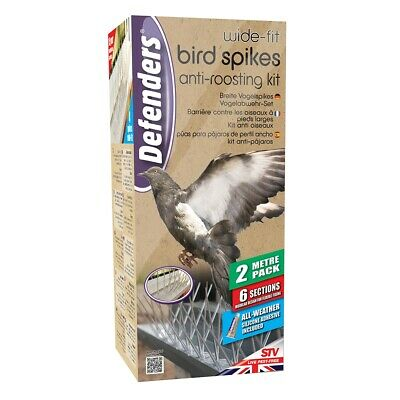 STV Bird Spikes 4 Metre Pack Of 12 Sections Transparent Anti Roosting Windows