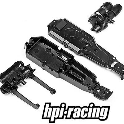 Hpi Racing Q32 # 114289 - Main Chassis Rear Axle Motor Mount Pod