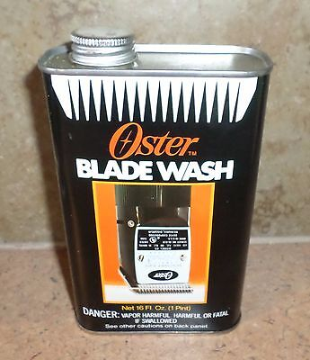 Vintage Oster Blade Wash Empty Advertising Can 1 Pint