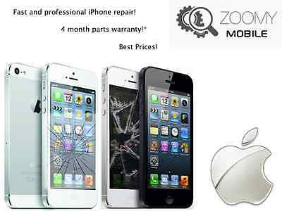 Fast Iphone 5S White Glass Screen Repair Service Digitizer Lcd Replacement