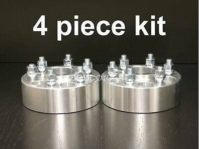"""4pc 38mm (1.5"""") HUBCENTRIC 6x114.3 Wheel Spacers 12x1.5 for Nissan Truck SUV"""