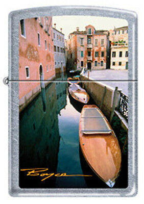 Venice Italy Love Canals Gondolas Chrome Zippo Lighter  Artist William Boyce
