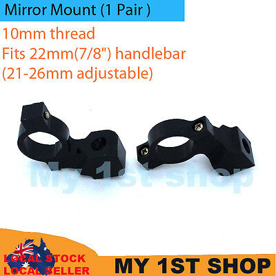 2x10mm Mirrors Adaptor Mount Brackets Universal Motorcycle dirtbike MX handlebar