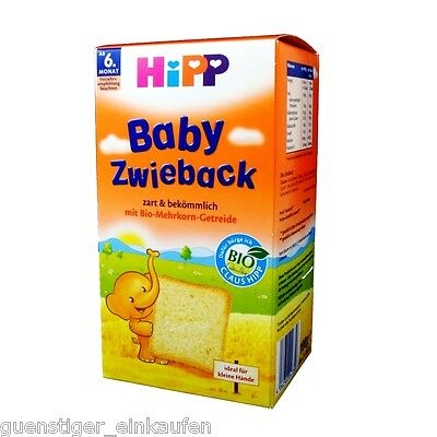 (34,50 €/ kg) 100g Hipp Baby Rusk from 6. Month Bio Wheat Nibble Tender Pink