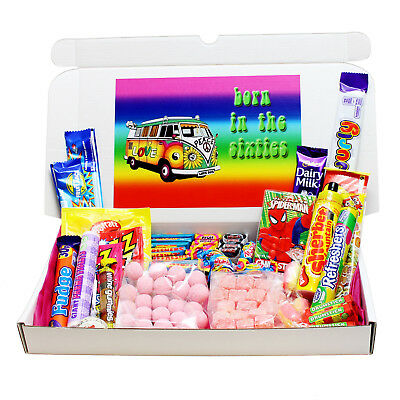 Born In The 60S Retro Sweets Birthday Gift Box