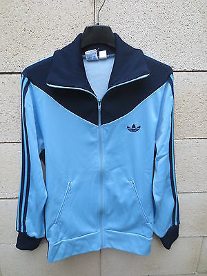 VINTAGE Veste ADIDAS femme girl oldschool jacket VENTEX made in France 40 D 38