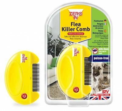Zero In Electronic Flea Killer Comb Dogs Cats Poison Free