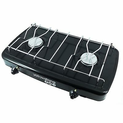 Yellowstone Compact Lightweight Double Portable Gas Burner Cooker Stove