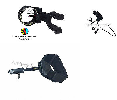 ASD Compound Bow Accessories Pack Release Aid, D/A Arrow Rest & Fibre OpticSight