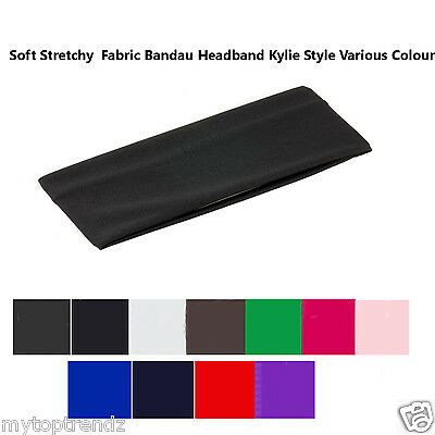 Wide Plain Stretchy Fabric Headband Kylie Headband Hairband Hair Bandeau 7cm