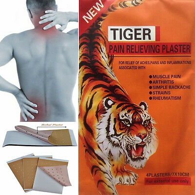 Hot Pain Relieving Herbal Plaster Patches Muscle Relief Injury Heat Therapy