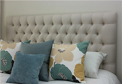 New  Upholstered Bedhead/ Headboard Queen Size Diamond Pleated