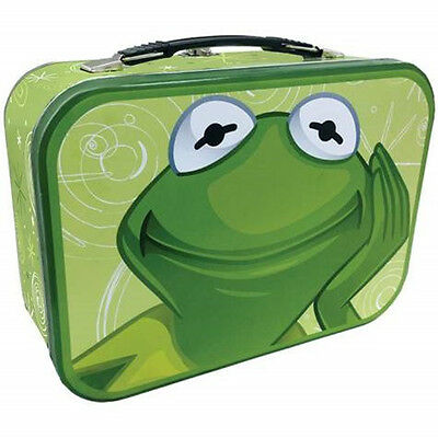 The Muppet's Kermit the Frog Collectible Metal Tin Tote Lunchbox, NEW UNUSED