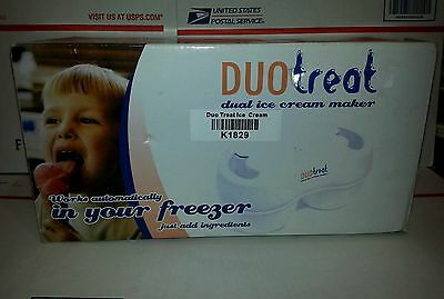 Duo treat Ice Cream Maker *2 Flavors* Viatek Duotreat NEW! Dual Freezer DT101