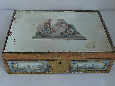 Antique18th Century Large French Painted Mirrored Box