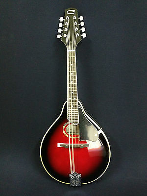 Caraya Teardrop Shape Black Cherry Sunburst Mandolin w/Deluxe Hard Case.MA-002
