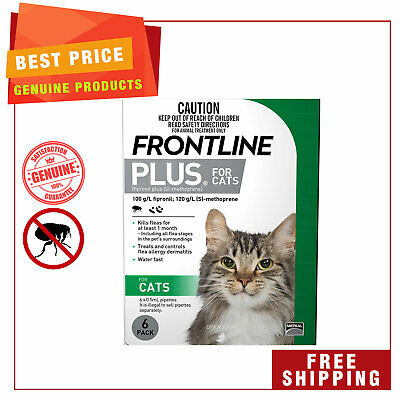 Frontline Plus Flea Treatment for Cats 6 Pipettes by Merial