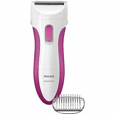 Philips Wet&Dry LadyShave Womens Legs & Body Hair Removal Shaver Battery Powered