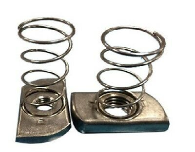 """1/4""""-20 Stainless Steel (316) Spring Nut PACK OF 100PCS"""
